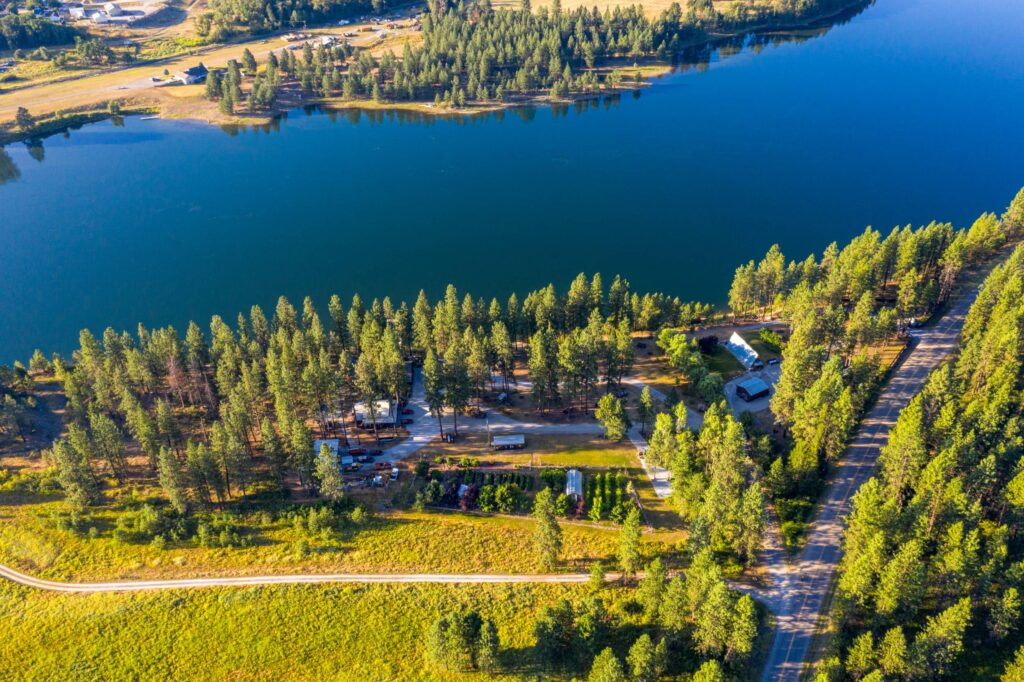 Aerial Riverside Lodgings (2500)