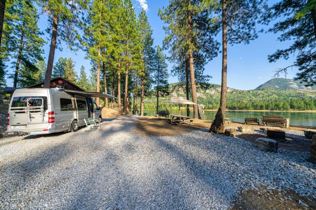 Overlook Camp Site set up (2500)